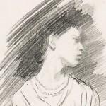 Gwen McEvoy (née Notley). A sketch by Ambrose McEvoy RA (detail)