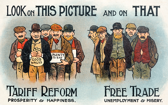 A contemporary poster for the Tariff Reform League